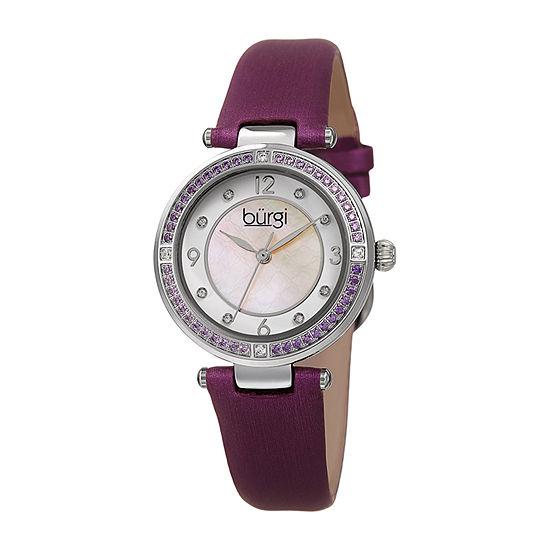 Burgi Womens Purple Strap Watch-B-251pu