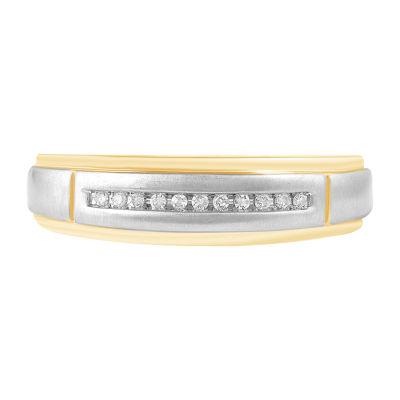 1/6 CT. T.W. Genuine Diamond 10K Gold Band