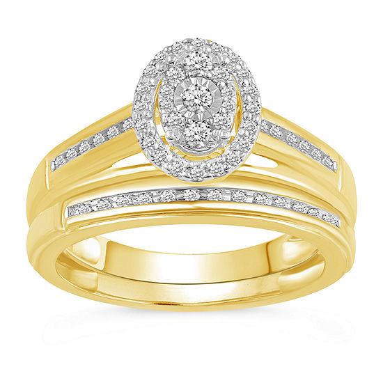 Womens 1/3 CT. T.W. Genuine Diamond 10K Gold Band