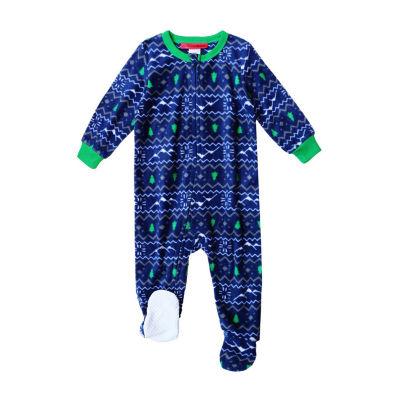 Holiday #Famjams Unisex Knit Long Sleeve Footed Pajamas