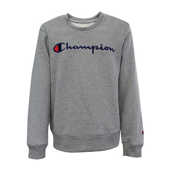 Champion Core Embroidered Crew Neck Sweatshirt Boys-Big Kid