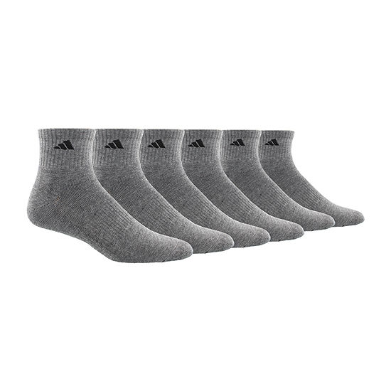 adidas 6 Pair Quarter Socks-Mens