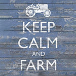 Metaverse Art Keep Calm & Farm I Canvas Wall Art