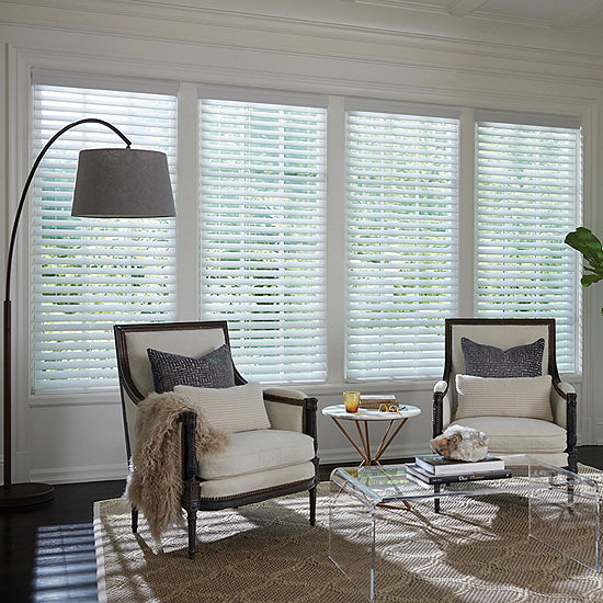 "LEVOLOR Classic 2"" Custom Cordless Faux Wood Blinds"