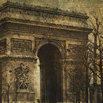 Metaverse Art Arc De Triomphe Gallery Wrapped Canvas Wall Art