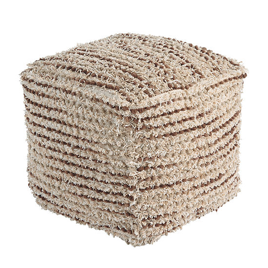 Signature Design by Ashley Jorge Striped Pouf Ottoman