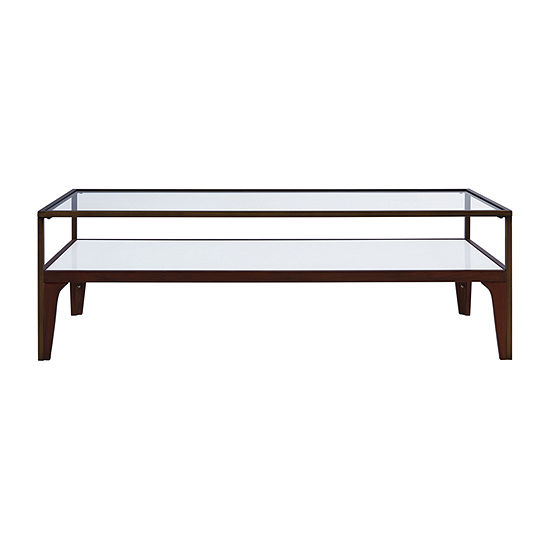 Fayette Metal and Glass Coffee Table