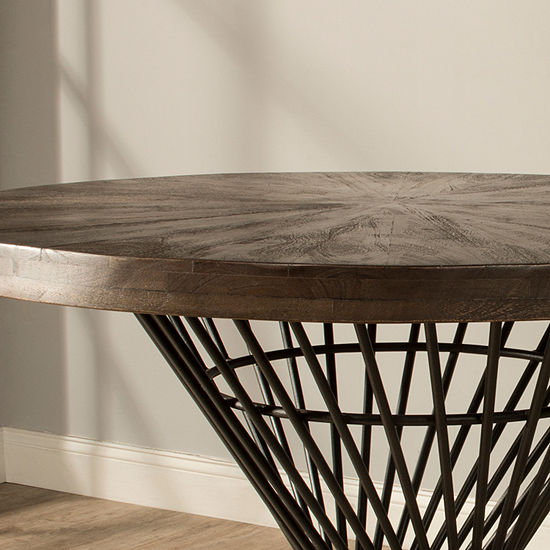 Hillsdale House Round Wood-Top Dining Table Base