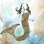 Metaverse Art Mermaid I Framed Wall Art
