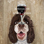 Metaverse Art Dog Au Vin Springer Spaniel Framed Wall Art