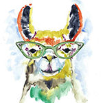 Metaverse Art Smarty-Pants Llama Framed Wall Art