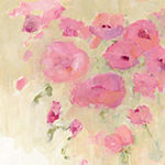 Metaverse Art Floral Watercolor Crop Gallery Wrapped Canvas Wall Art