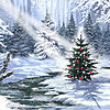 Metaverse Art Little Christmas Tree 1 Gallery Wrapped Canvas Wall Art