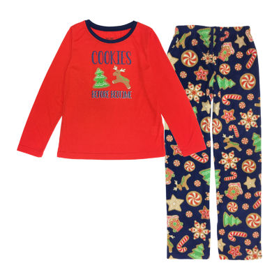 Secret Santa Cookie Family Unisex 2-pc. Pant Pajama Set Preschool / Big Kid