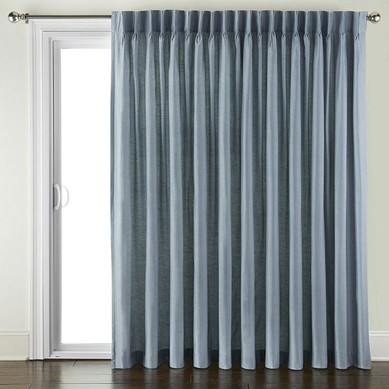 JCPenney Home Supreme Pinch-Pleat Patio Door Curtain