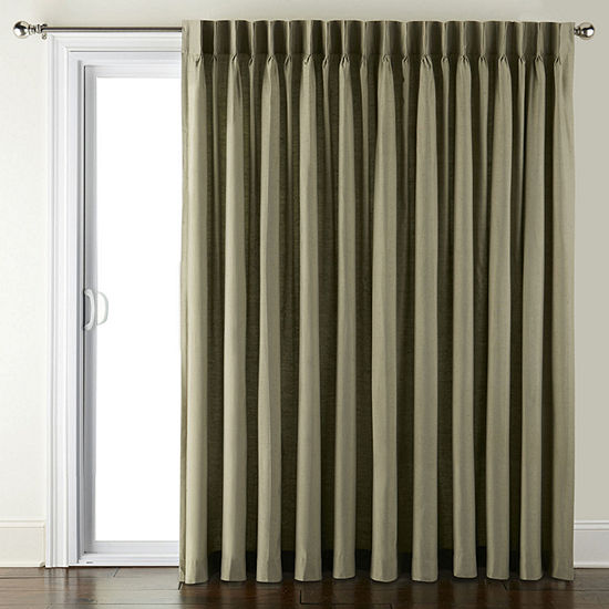 JCPenney Home Supreme Energy Saving Light-Filtering Pinch Pleat Single Patio Door Curtain