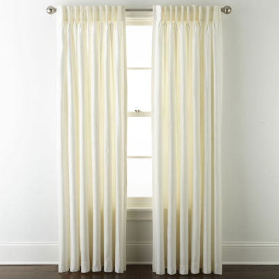 JCPenney Home Supreme Energy Saving Light-Filtering Pinch-Pleat Single Curtain Panel