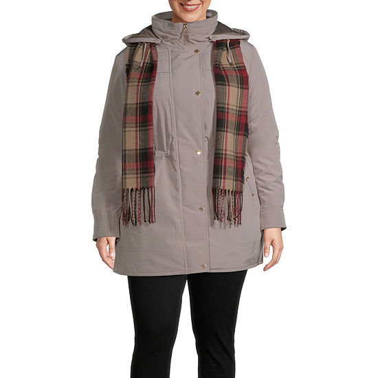 Gallery Hooded Midweight Puffer Jacket-Plus