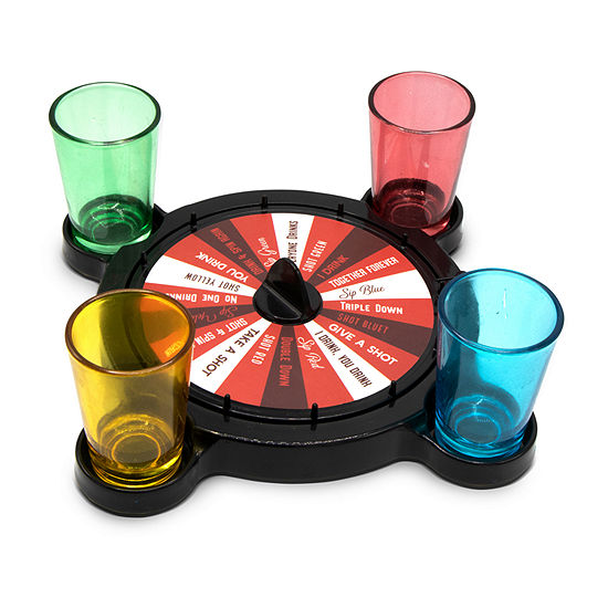 Wembley Drinking Spinner With Shot Glasses Gift
