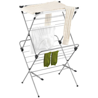 Honey-Can-Do® Foldable Drying Rack with Mesh Top, 2 Tiers