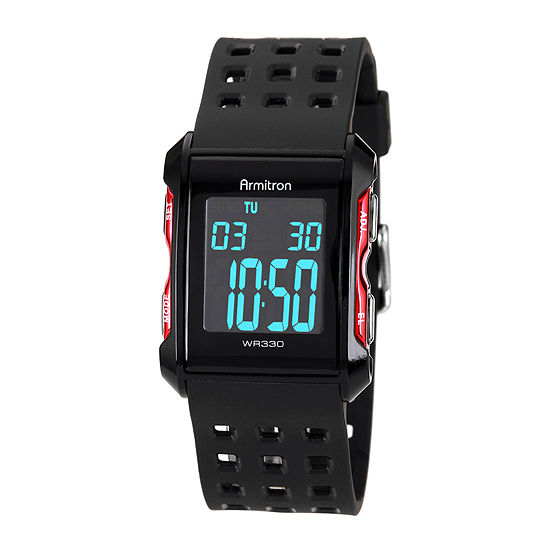 Armitron Pro Sport Mens Black Strap Watch-49/1025redj