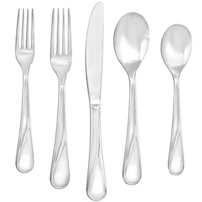 Farberware® Capers Mirror 20-pc. 18/10 Stainless Steel Flatware Set