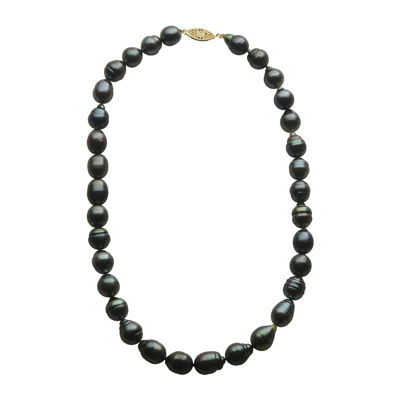 Baroque Tahitian Cultured Pearl 14K Gold Necklace
