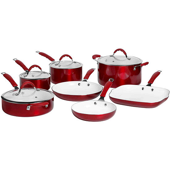 Bella™ 11-pc. Ceramic Nonstick Cookware Set