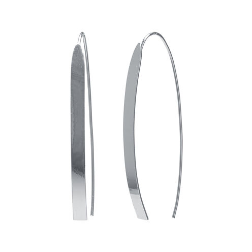 Silver Reflections™ Silver-Plated Linear Threader Drop Earrings