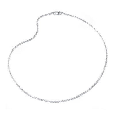 "Sterling Silver 16-24"" Rope Chain"