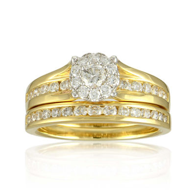 LIMITED QUANTITIES 1 CT. T.W. Diamond 14K Yellow Gold Bridal Ring Set