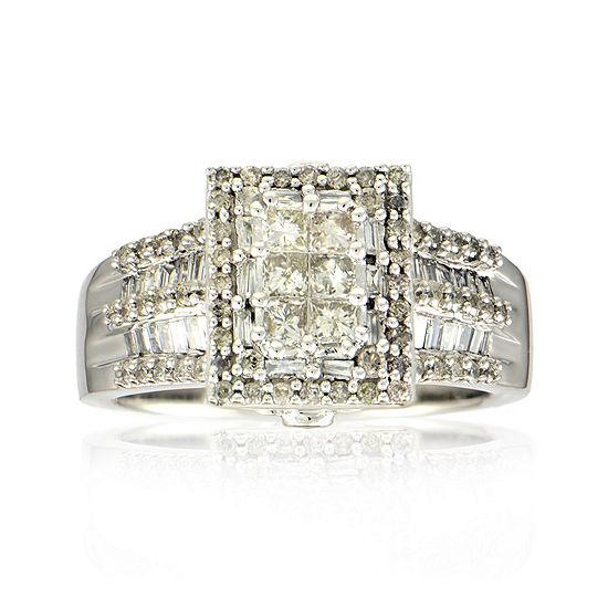 1 CT. T.W. Diamond 14K White Gold Princess-Cut Multi-Top Ring