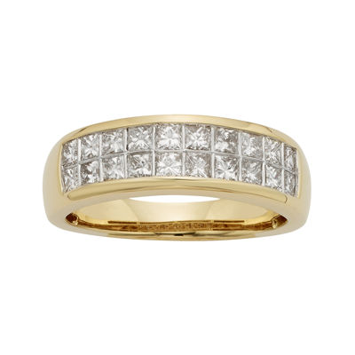 1 CT. T.W. Diamond 14K Yellow Gold Princess-Cut Wedding Band