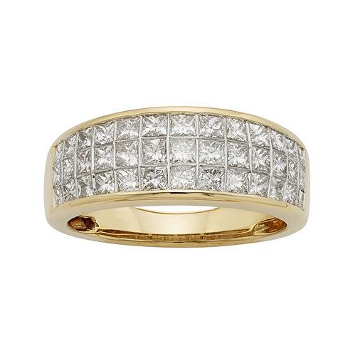 1½ CT. T.W. Diamond 14K Yellow Gold Princess-Cut Wedding Band