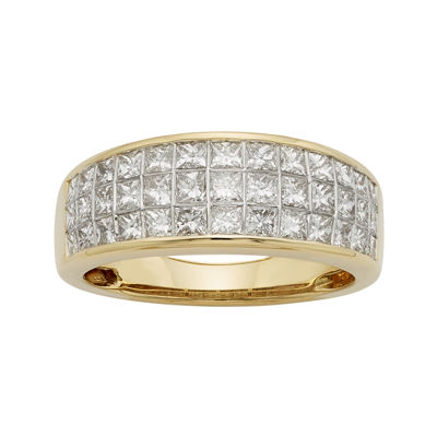1½ CT. T.W. Diamond 14K Yellow Gold Princess-Cut Wedding Band
