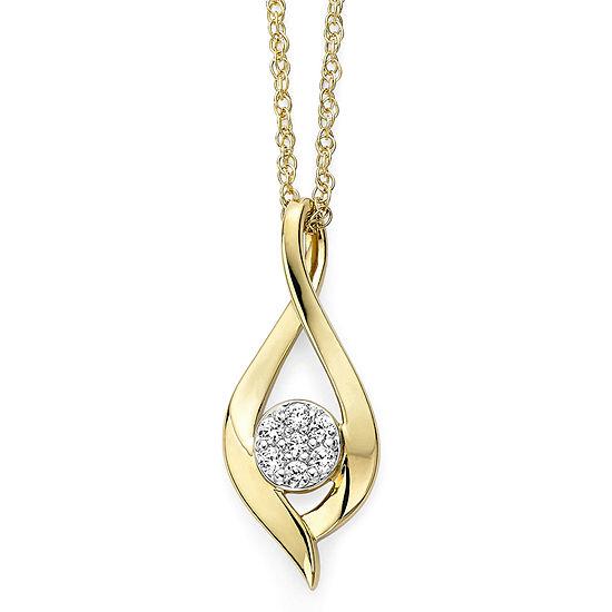 diamond blossom 1/10 CT. T.W. Diamond Cluster Infinity Pendant Necklace