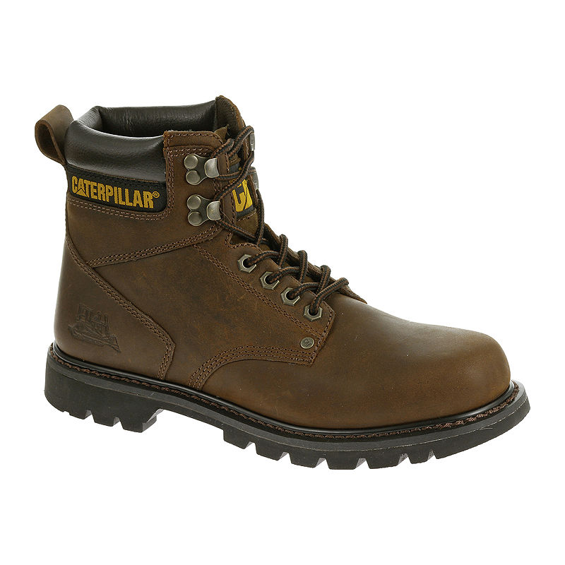 CAT Second Shift Mens Leather Steel-Toe Work Boots