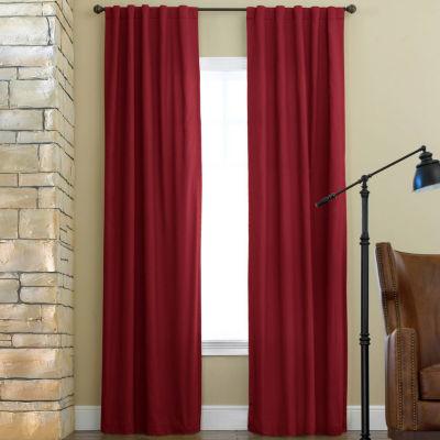 JCPenney Home Jenner Energy Saving Light-Filtering Back Tab Single Curtain Panel