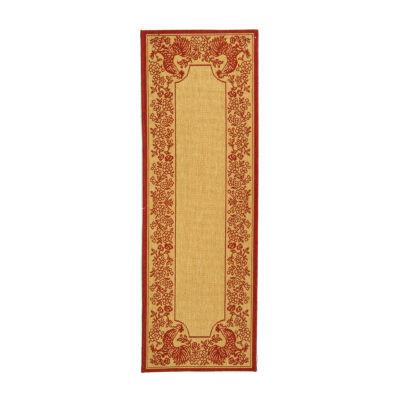 Safavieh Courtyard Collection Kestrel Oriental Indoor/Outdoor Runner Rug