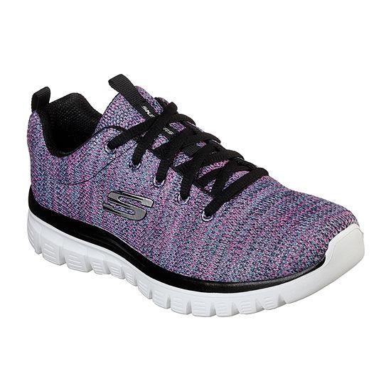Skechers Graceful Womens Walking Shoes Lace-up