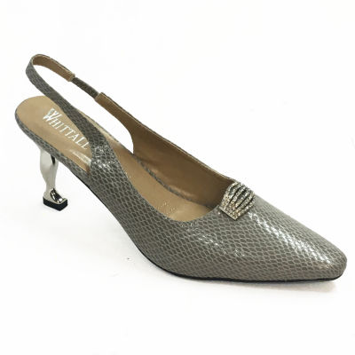 Whittall & Shon Womens Lizard Soft Toe Cone Heel Pumps