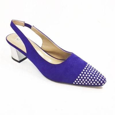 Whittall & Shon Womens Studs Soft Toe Cone Heel Pumps