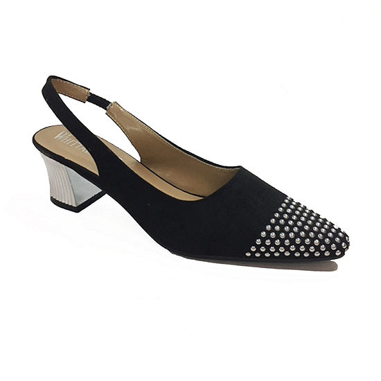 Whittall & Shon Womens Soft Toe Cone Heel Studs Pumps