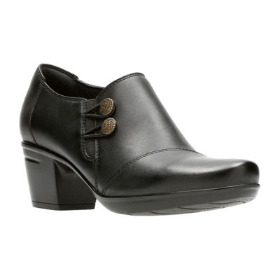Clarks Emslie Warren Leather Womens Slip-On Shoes