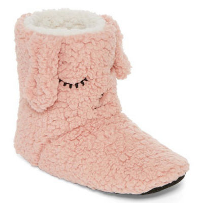 Mixit Plush Critter Bootie Slippers