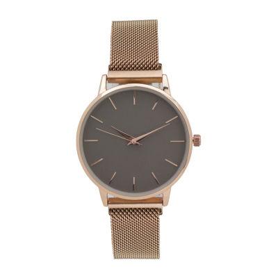 Geneva Womens Rose Goldtone Bracelet Watch-10114