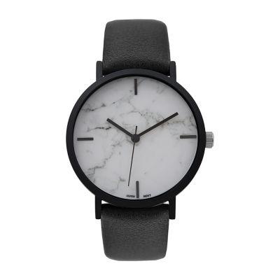 Geneva Platinum Womens Black Bracelet Watch-10090