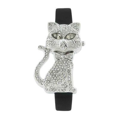 Geneva Platinum Womens Silver Tone Strap Watch-7721