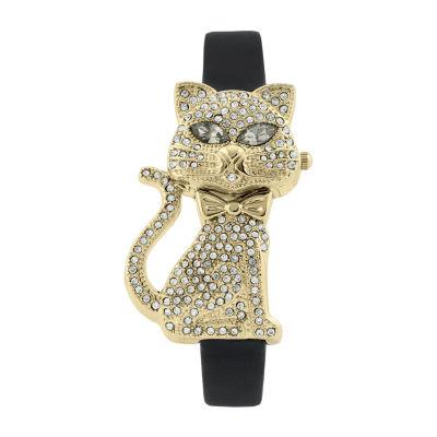 Geneva Platinum Womens Gold Tone Strap Watch-7721
