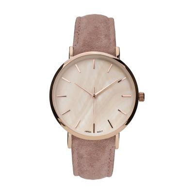 Geneva Platinum Womens Pink Strap Watch-10133